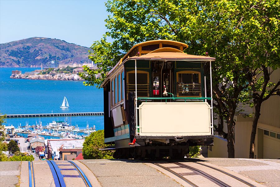Take a ride on a cable car