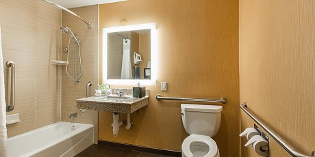 Welcome To Holiday Inn Express Mountain View Palo Alto - Accessible Private Bathroom