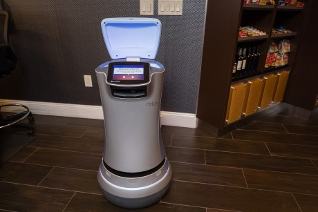 Welcome To Holiday Inn Express Mountain View Palo Alto - Relay Service Robot